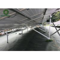 Buy cheap Silver Customized Ground Mount Solar Racking Systems Industrial Ground Mounting Solution from wholesalers