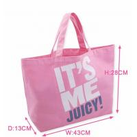 Buy cheap Pink Printed Canvas Tote Bags Ladies Cotton Handbags for Ladies Supermarket from wholesalers