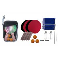 Buy cheap Ping Pong Paddles Pimple In Rubber , Table Tennis Ball Simple Post Net With PVC Bag from wholesalers
