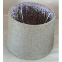 Buy cheap jute outside flower fabric pleat inside flat Uno lampshade from wholesalers