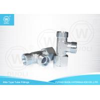 Buy cheap Bite Type Hydraulic Tube Compression Fittings Run Tee Adapters With Swivel Nut from wholesalers