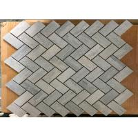 Buy cheap Blue Wooden Marble Herringbone Tile Backsplash For Wall Cladding , 1 X 2 Size from wholesalers