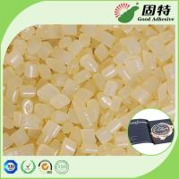 Buy cheap Light  Granule solid EVA resin Viscosity Resin Side Bookbinding Hot Melt Glue Yellowish Color For Coated Paper from wholesalers