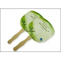 Buy cheap Customized paper board wooden Hand Fans Round Square Green Traditional Style product