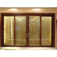 Buy cheap 2.0mm profile thickness red sandalwood sound insulation aluminum sliding glass doors from wholesalers