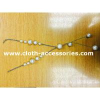 Buy cheap 18 Plastic Beaded Pearl Necklace / Round Silver , White Bead Necklace from wholesalers
