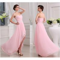 Buy cheap Floor Length High Low Pink Chiffon Womens Prom Dresses with Open Back from wholesalers