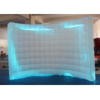 Buy cheap Large White Inflatable Photo Booth Curved Shape With Colorful Led Light from wholesalers