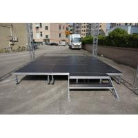 Buy cheap aluminum folding stage used portable event stage used portable stage platform outdoor beyond stage lighting from wholesalers