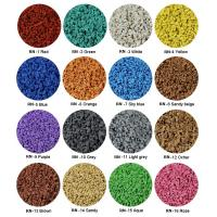 Buy cheap Sulphur Cured EPDM Rubber Granules , Customized Athletic Tracks Coloured Rubber Crumb from wholesalers