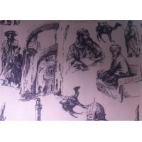 Buy cheap Printed Polycotton Fabric Regenerated Fabric Charcoal Drawing from wholesalers