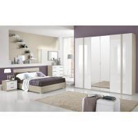 High Gloss Hotel Bedroom Furniture Sets, 6 Door Painting Melamine Wardrobes
