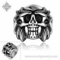 Buy cheap Fashion Various Skull Design Rock Finger Wholesale Stainless Steel Rings from wholesalers