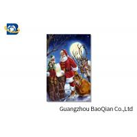 Buy cheap 3D Craft Lenticular Christmas Cards , Interactive Greeting Cards Regular Size from wholesalers