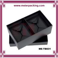 Buy cheap Two set drink cups paper packaging box, black paper box for colored glass mug ME-TB031 from wholesalers