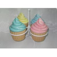 Buy cheap Mini Ceramic Cupcake Box , Ceramic Ice Cream Cups With Lids Earthenware from wholesalers
