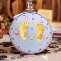 Buy cheap Newborn Baby Keepsake Tin Birthday Gift Hand And Footprint Clay Kit from wholesalers