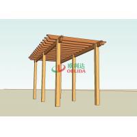 Prefab wood plastic composite pergola structure for garden / 6mx4m / OLDA-5015