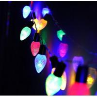 Buy cheap Waterproof Outdoor C6 Multicolor Strawberry LED String Lights on Green Wire from wholesalers