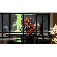 Buy cheap Blown Murano Glass Centerpieces Flower Sculpture from wholesalers