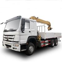 Buy cheap 12 Span Mounted Crane Boom Truck / HOWO 4x2 290hp 15 Ton Hydraulic Arm Truck from wholesalers