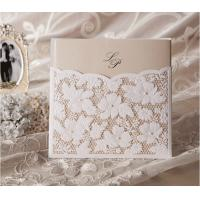 Buy cheap design laser cut wedding invitation cards elegant carft wholesale from wholesalers