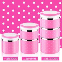 Buy cheap colorful  stainless steel round food container ,0.7L to 2.1L food carrier,lunch box,14CMfood lunch container from wholesalers