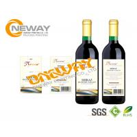 Buy cheap Printing Neck Wine Bottle Labels CMYK / Full Color Self Adhesive Labels from wholesalers