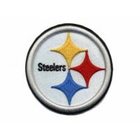 Buy cheap 3D Puff embroidery digitizing NFL Pittsburgh Steelers with Iron on and laser boders  from wholesalers