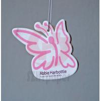 Buy cheap 300gsm art paper and 2mm cardboard Rose perfume Paper Air Freshener 4C full color printing from wholesalers