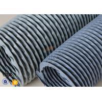 Buy cheap 6 Grey PVC Coated Fiberglass Fabric Flexible Air Duct For Fume Extraction from wholesalers