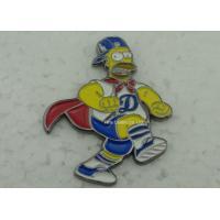 Buy cheap Brass Die Stuck Softball Pins , Zinc Alloy Promotional LA Baseball Pin from wholesalers