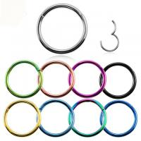 Buy cheap Titanium Hinged Segment Nose Ring 16g&14g Nipple Clicker Ear Cartilage Tragus Helix Lip Piercing Unisex Fashion Jewelry from wholesalers