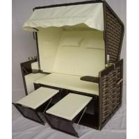 Buy cheap Swimming Pool Black Roofed Beach Chair & Strandkorb Suit For All Weather from wholesalers
