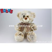 Buy cheap 100%Polyester Tie-dyed Fabric Plush Teddy Bears With Check Ribbon from wholesalers
