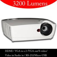 Buy cheap 3200 ANSI Lumen HD DLP Video Projector With HDMI VGA In Out For School Education Office from wholesalers