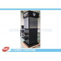 Buy cheap Four - Sides Black MDF Display Stand With Digital Printing LOGO / Stick Graphics from Wholesalers