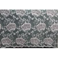 Buy cheap Apparel Accessories Mesh based Crown Style Embroidery Lace Fabric Crown in Different  Color from wholesalers
