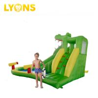 Buy cheap Green Gonfiabili Min Crocodile Inflatable Water Slide For Kids Happy Hop Design from wholesalers