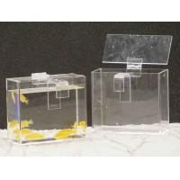 Buy cheap Custom Acrylic Fish Tank , Rectangle Plexiglass Fish Tank With Lid from wholesalers