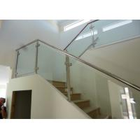 Buy cheap Stainless Steel Handrail Indoor Tempered Glass Railing For Staircase And Balcony from wholesalers
