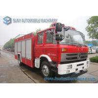 Buy cheap Carbon Steel Q235 Tank Two Axle Dongfeng Fire Fighting Trucks 4x2 With ISB190 40 Engine from wholesalers
