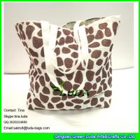 Buy cheap LUDA scarolina herrera handbags leopart print paper straw shopping bag from wholesalers