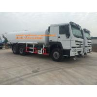 Buy cheap Sinotruk Howo7 Green Water Carrying Water Tanker Truck LHD 6X4 15 - 25CBM Drinking Water Truck from wholesalers
