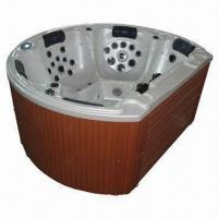 World class quality round spa whirlpool hot tub for 5 - Soft tube whirlpool ...