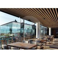 Buy cheap Indoor Modern Strip Natural Color WPC Composite Decking , Wood Plastic Ceiling Board from wholesalers