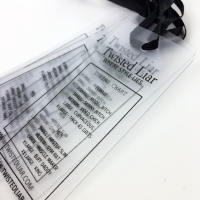 Buy cheap Custom Made Hot Stamping Clear PVC Hanging Gift Tags from wholesalers
