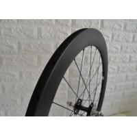 Buy cheap 700c Aero Carbon Track Wheelset 23mm Width Matte / Glossy Surface Finish from wholesalers