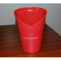 Buy cheap Personalized red acrylic / PS / ABS wine cooler bar champagne ice buckets / cooler / bowl from wholesalers