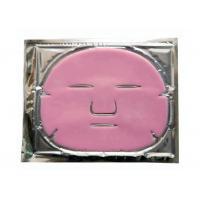 Pink Collagen Crystal Sheet Face Mask / Brightening Sheet Mask Firming Anti Wrinkle
